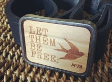 Let Them Be Free belt buckle