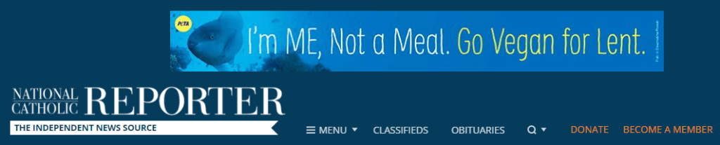 I'm Me, Not a Meal Ad on NCR Masthead