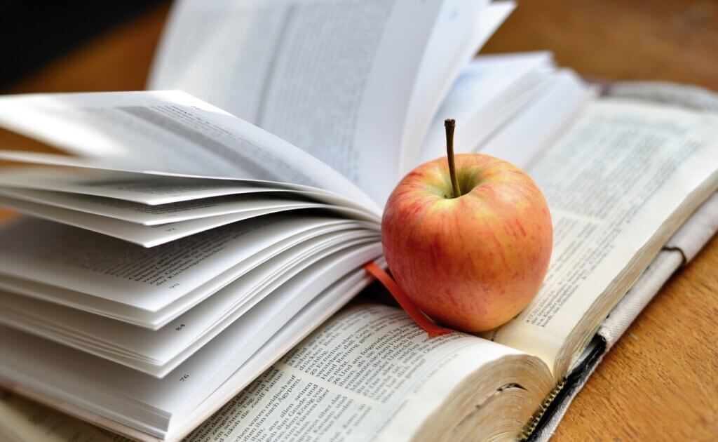 Bible with Apple